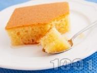 Класически обикновен сочен сладкиш реване със захарен сироп - оригинална рецепта